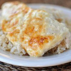 Creamy Swiss Cheese Chicken Bake