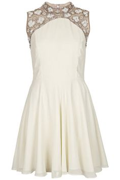 Sleeveless Embellished Swing Dress