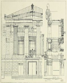 Architecture Blueprints Art pinolga matveeva on drawing fasades | pinterest