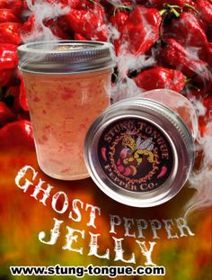 This spicy Ghost pepper jelly is made with our tasty fresh Organic Ghost peppers. We capture the true flavor of the Ghost with our process. This jelly is Hot! May uses for a jelly; spread on a burger bun, lay it on thick into a burrito, use on crackers or with PB&J, Glaze chicken wings or bbq for an unbelievable flavor addition. New Pepper flavors coming soon like the Moruga Scorpion pepper jelly and Carolina reaper jelly plus many more.