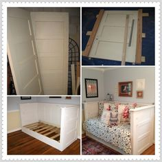 old door day bed | Daybed made from old farmhouse doors! | Home ..