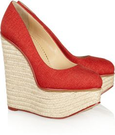 Charlotte Olympia Carmen canvas wedge espadrilles Charlotte Olympia