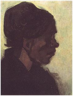 Painting, Oil on Canvas on panel Nuenen, The Netherlands: January, 1885 Kröller-Müller Museum Otterlo, The Netherlands, Europe Head of a Brabant Peasant Woman with Dark Cap Van Gogh Gallery