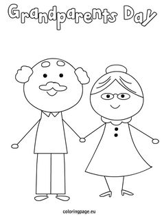 Grandparents day is September Show your grandparents how much you love them with a gift from the heart. A page colored just by you. An award. A printable card or sign. We have some great choices of Grandparents Day Coloring Pages. Print them for free, Grandparents Day Preschool, Grandparents Day Cards, National Grandparents Day, Kind Photo, Printable Coloring Sheets, Grands Parents, Grandparent Gifts, Fathers Day Crafts, Printable Cards