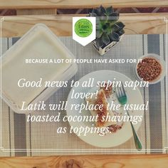 Because a lot of people have asked for it. Good news to all Sapin-Sapin lovers,  latik will replace the usual toasted coconut shavings as toppings.  #sapinsapin #kakanin #eatgoodfeelgood Lots Of People, Rice Cakes, Toasted Coconut, Filipino, Good News, Feel Good, Lovers, Eat