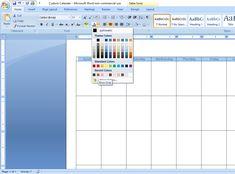 How to Create a Custom Calendar in Word - Calyx & Corolla Custom Calendar, Diy Calendar, Organizing Paperwork, Organization, Create A Calendar, Time Management, Bar Chart, Words, Purpose