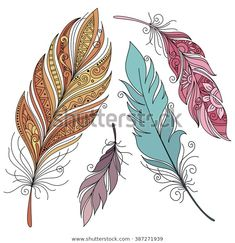 Feather Drawing, Feather Painting, Dot Painting, Mandala Art Lesson, Mandala Drawing, Feather Cards, Feather Pattern, Gourd Art, Body Art Tattoos