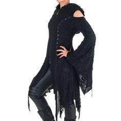 Gothic Jacke mit Offenen Schultern | Crazyinlove Deutschland