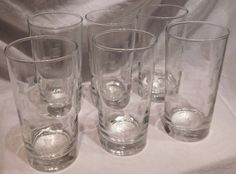 VIntage Glassware Tumblers Water Glasses Cut Frosted BowTie Design Set of Six by VintageToThrill on Etsy https://www.etsy.com/listing/470401464/vintage-glassware-tumblers-water-glasses