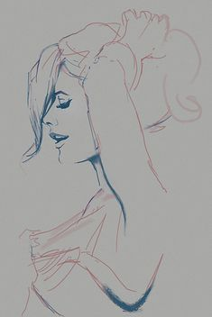 illustration, woman,