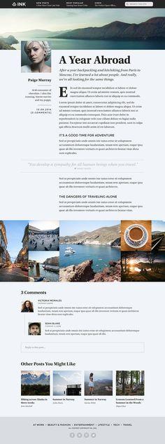 INK Blog Design on Behance