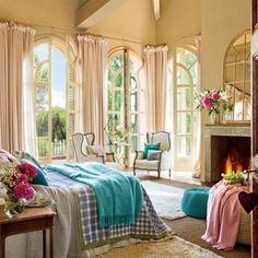 Dream Vintage Elegant Bedroom is part of Dream bedroom Vintage - The elegance of vintage can only be replicated through the use of simple and natural furniture, as well as soft hues of color This bedroom evokes a vintage air with Vintage Bedroom Decor, Home Decor Bedroom, Bedroom Ideas, Bedroom Inspiration, Vintage Decor, Stil Vintage, Bedroom Retreat, Bedroom Fireplace, Fireplace Design