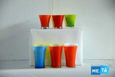 Servizio bicchieri colorati usati