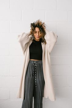 Woven Striped Pants