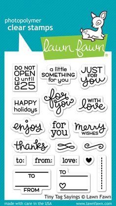 tiny tag sayings | Lawn Fawn