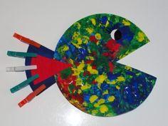 Ber ideen zu pappteller fisch auf pinterest - Fingerfarben ideen ...