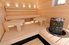 Sauna Design, Saunas, Home Spa, Pergola, New Homes, Indoor, Interior, Bathrooms, Wellness