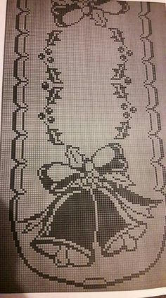 Crochet Patterns Filet, Crochet Tablecloth Pattern, Funny Cross Stitch Patterns, Christmas Crochet Patterns, Holiday Crochet, Crochet Doilies, Xmas Cross Stitch, Cross Stitch Borders, Cross Stitching