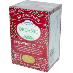St. Dalfour, Organic, Strawberry Tea, 25 Tea Bags, 1.75 oz (50 g) - iHerb.com. Bruk gjerne rabattkoden min (CEC956) hvis du vil handle på iHerb for første gang. Da får du $5 i rabatt på din første ordre (eller $10 om du handler for over $40), og jeg blir kjempeglad, siden jeg får poeng som jeg kan handle for på iHerb. :-)