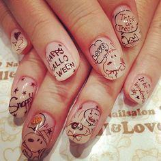 awwwwww snoopy♡ instagram@jillandlovers | japanese nail salon