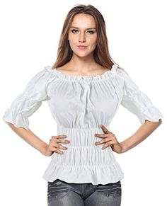 ca9ca5ee4a Charmian Women s Off Shoulder Short Sleeves Ruffles Blouse Shirt Crop Top -  Blouses   Button-Down Shirts - Apparel - Online Boutique