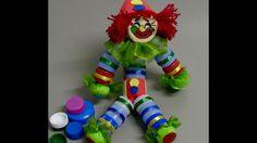 Como fazer um palhaço de tampas de garrafa pet - Clown