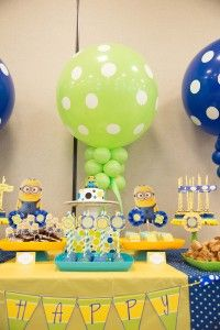 Despicable Me  Sweets Table Close Up with Printables