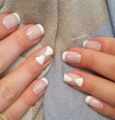 White and sheer French tips for the spring. If you want to don the classic French tip but still stand out then this design is perfect for you. Give your nails the makeover it deserves.