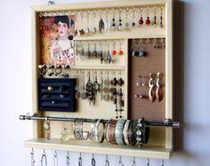 Jewelry organizer. earrings holder. jewelery by FineArtHolders