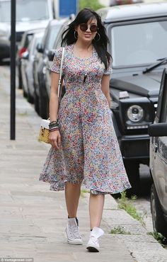 Putting your best frock forward: Daisy Lowe, 27, caught the attention of…