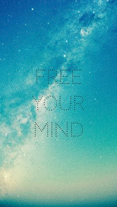 ↑↑TAP AND GET THE FREE APP! Art Creative Quote Sky Space Stars Galaxy Freedom Mind Blue HD iPhone 5 Wallpaper