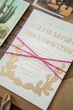 Fiesta Wedding Invitations by Orange Paper Shoppe