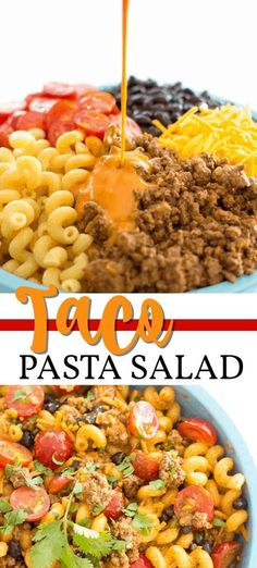 Healthy Recipes, Beef Recipes, Mexican Food Recipes, Cooking Recipes, Cold Pasta Recipes, Recipies, Taco Salad Recipes, Taco Salads, Recipe Pasta