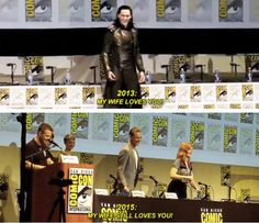 Tom in Comic-Con.Really,how could the lady help herself?He's still Tom,after all.