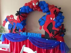 Superhero Birthday Party, 6th Birthday Parties, Birthday Party Decorations, Man Birthday, Spider Man Party, Spiderman Theme, Champagne Birthday, Party Themes For Boys, Baby Shower Decorations