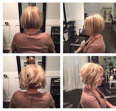 Blonde bombshell bob The French Twist Salon