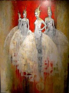 Artist: Joan Dumouchel Acrylic & Silver Leaf 36 x 48