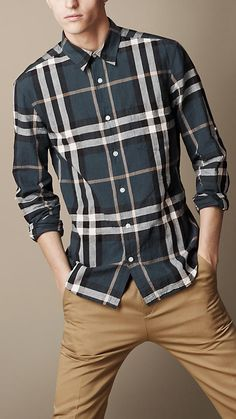 Burberry Brit Check Cotton Linen Shirt