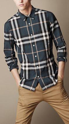 Burberry Brit Check Cotton Linen Shirt