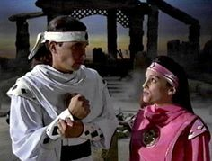 Tommy Oliver and Kimberly Hart. - the-power-rangers Photo Kimberly Power Rangers, Pink Ranger Kimberly, Power Rangers 1995, Original Power Rangers, Pink Power Rangers, Power Rangers Movie, Power Ranger Party, Power Ranger Birthday, Dino Rangers