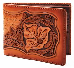 Leather Craft Wallet Leather Wallet Pattern, Small Leather Wallet, Leather Bifold Wallet, Billfold Wallet, Craft Accessories, Leather Tooling, Small Purses, Carving, Leather Crafts