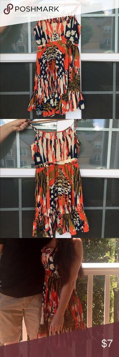 Earthy Multicolor Dress Forever 21 dress. Gently used. Excellent condition. Only worn once. Make an offer and I'll try my best to work with you 😊 Forever 21 Dresses