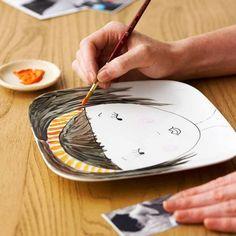Copy a photo onto a ceramic plate!
