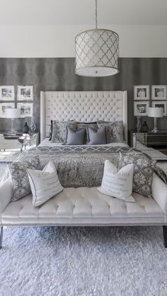 make a bedroom that will be a personal getaway and a sanctuary, that expresses your favorite colors, feelings, and collections. ideas Big Beautiful Bedrooms: 13 Best Bedroom Ideas to Choose Master Bedroom Design, Dream Bedroom, Home Decor Bedroom, Modern Bedroom, Decorating A Bedroom, Gray Home Decor, Beds Master Bedroom, Luxury Master Bedroom, Grey Bedrooms