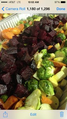 Roasted Fall veggies- beets, carrots, parsnips, squash, Brussels ...