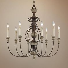 Add a vintage look to your home with this antique inspired chandelier.