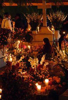 Day of the Dead Xoxo cemetery Oaxaca Mexico