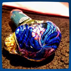 Locally blown in Arlington,TX. He has great pieces and amazing prices! All of his pipes have blown in screens, too! mrstr8 glass
