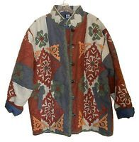 JACKET - WOMENS' APPLIQUED, QUILTED JACKET by ASHA (Made in India) - Size M/L
