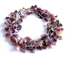 Pink Wrap Bracelet  Boho Bracelet  Tourmaline by PinkBeading, £15.00